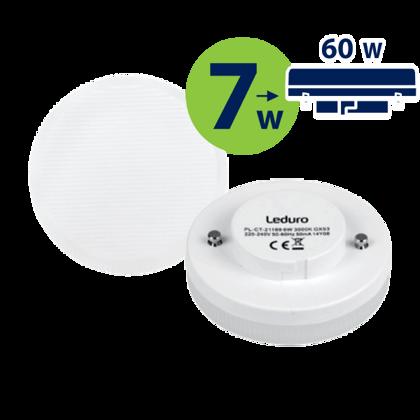 LED (60W) 3000K LED spuldze LEDURO GX53