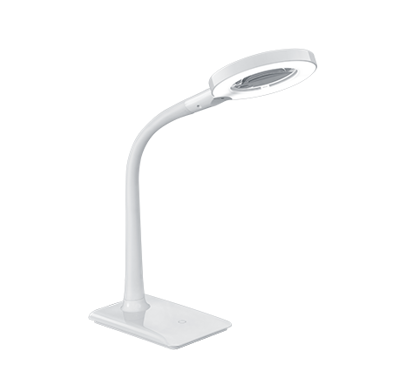 5W 550lm 3500K LED galda lampa LUPO ar palielināmo stiklu un gaismas regulatoru