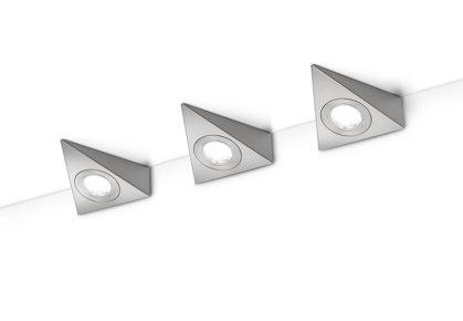 9W 600lm 3000K LED mēbeļu apgaismojums ECCO (3 gab.)