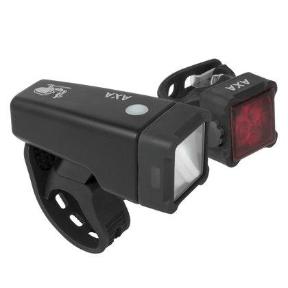 1 + 4 LED velosipēda lukturu komplekts AXA NITELINE ar akumulatoru