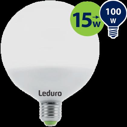 15W (100W) 2700K nemirgojoša LED spuldze LEDURO G120