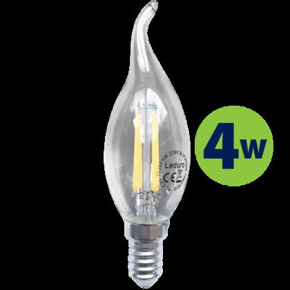 4W (40W) 2700K LED filament spuldze LEDURO C35