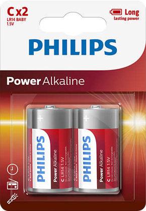 PHILIPS LR14 baterijas (2gab.)
