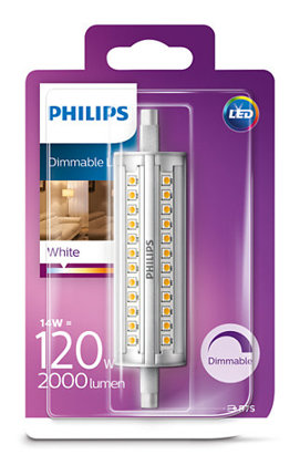14W (120W) 3000K dimmējama LED spuldze PHILIPS R7S