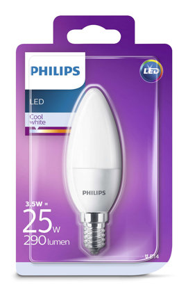3,5W (25W) 4000K LED spuldze PHILIPS B35