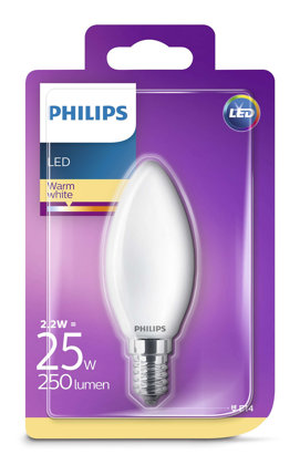 2,2W (25W) 2700K LED filament spuldze PHILIPS B35