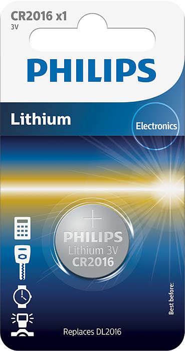 PHILIPS CR2016 baterija (1 gab.)