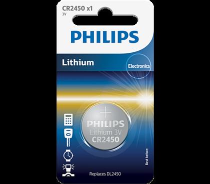 PHILIPS CR2450 baterija (1gab.)