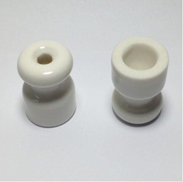 Porcelāna izolators ∅18 x 23mm, balts