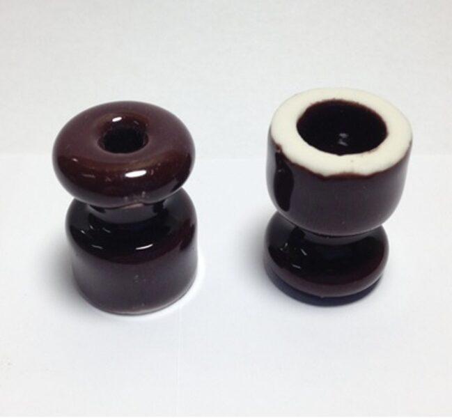 Porcelāna izolators ∅18 x 23mm, brūns