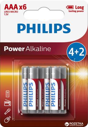 PHILIPS AAA baterijas (6 gab.)