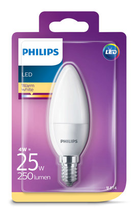 4W (25W) 2700K LED spuldze PHILIPS B35
